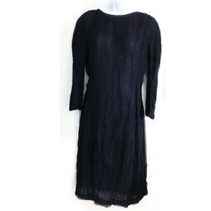 New Alberta Ferretti silk black dress, Size 10